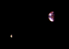 Earth and Moon, seen from Mars