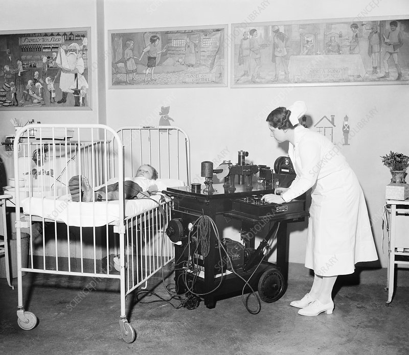 Electrocardiography at children's hospital, 1930s