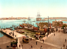 Portsmouth Harbour, UK, 1890s