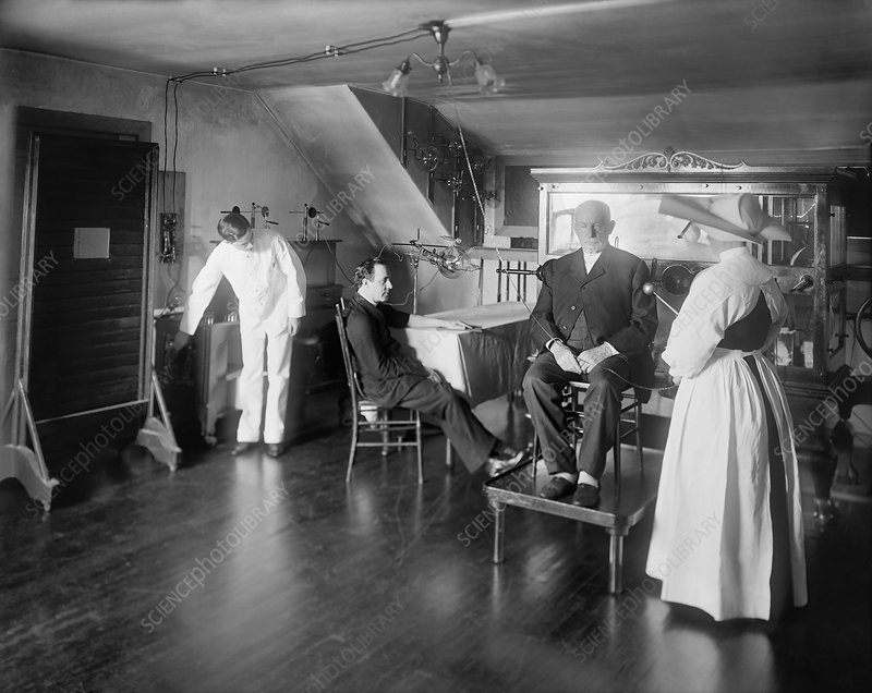 X-ray and electrotherapy treatments, early 20th century