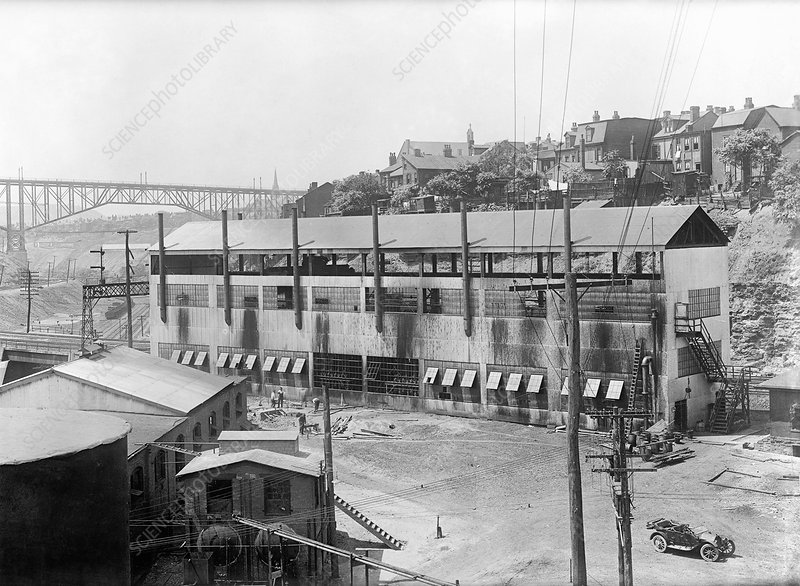 Rittman gasoline plant, Pittsburgh, USA, 1915