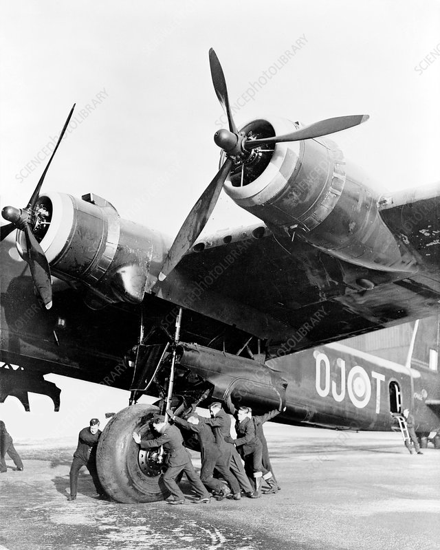 Stirling bomber, circa 1942