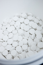 Water purification tablets production