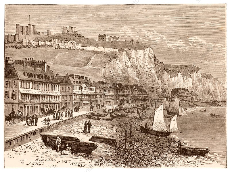 19th century illustration of Dover.