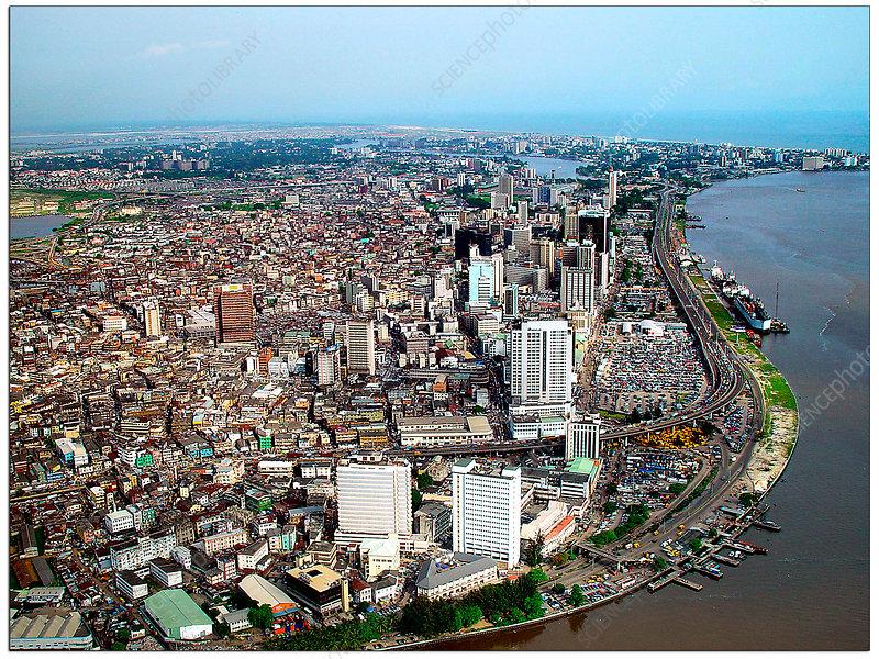 Lagos, Nigeria, aerial photograph