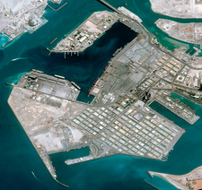 Abu Dhabi, United Arab Emirates, satellite image