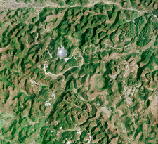 Radio telescope, China, satellite image
