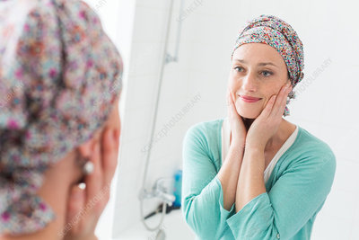 Woman undergoing chemotherapy