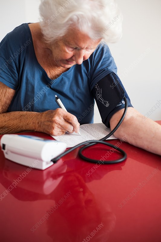 Recording home blood pressure readings