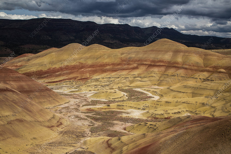 Painted Hills with Storm Clouds, USA