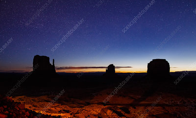 Monument Valley sunrise, Navajo reservation, USA