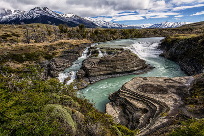 Waterfall, Patagonia, Chile