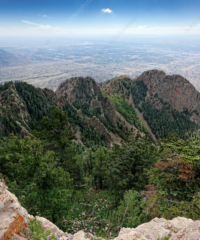 View from Sandia Peak, USA