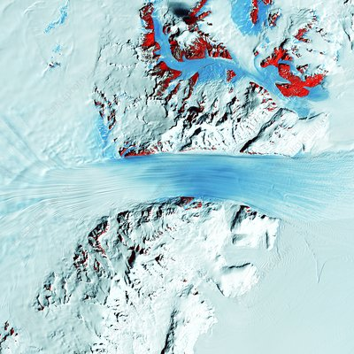 Byrd Glacier, satellite image