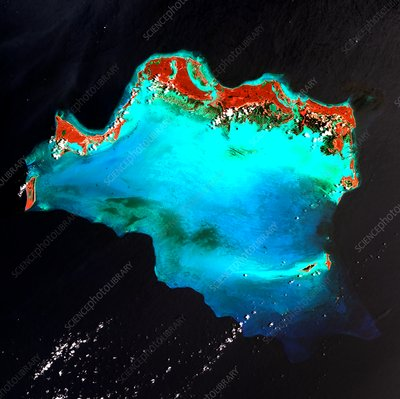 Caicos Islands, satellite image