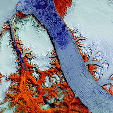 Petermann Glacier, satellite image