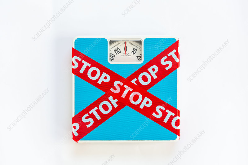 Conceptual image on stopping diets