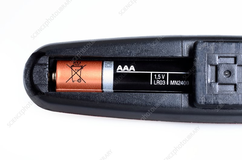 AAA battery in a bicycle light