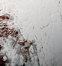 Ice cell convection on Pluto, New Horizons image