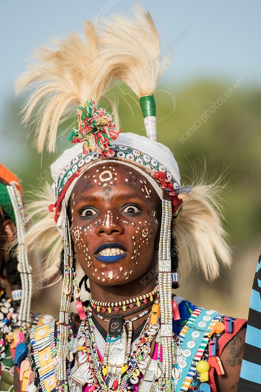 Male Wodaabe dancer at Gerewol