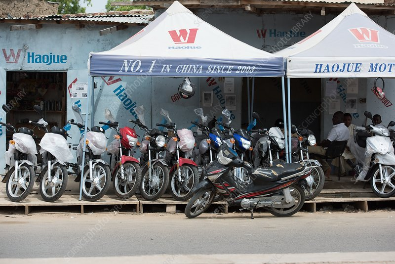 Motorcycle dealership in N'Djamena Chad
