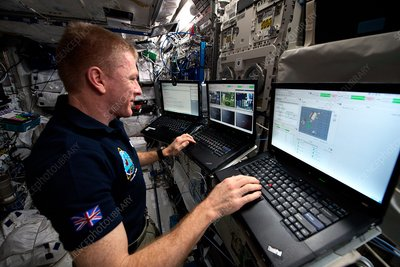 Tim Peake and ISS rover experiment, 2016