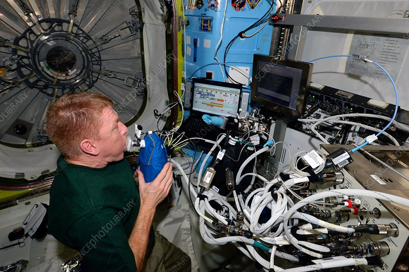 Tim Peake and ISS respiration experiment, 2016