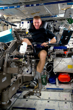 Tim Peake and ISS muscle experiment, 2016