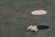 Landing of Soyuz TMA-19M spacecraft, June 2016