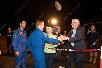 Tim Peake at Cologne after landing, June 2016