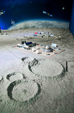 Chinese moonbase model.