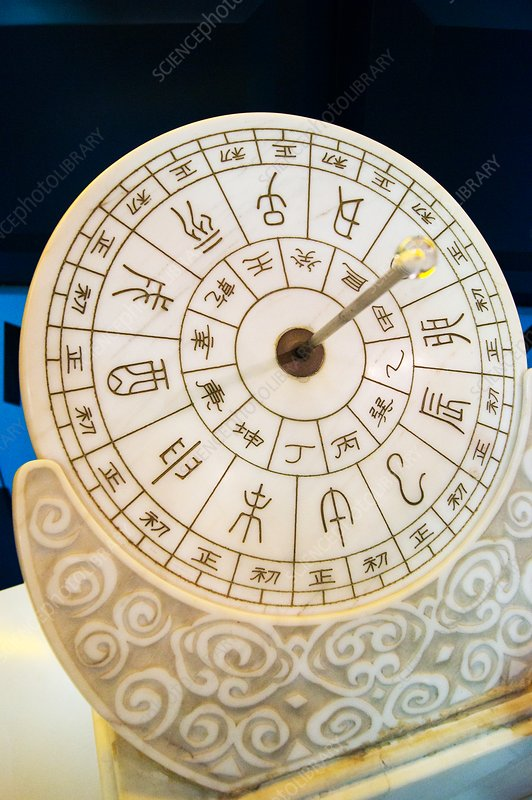 Ancient Chinese sundial.