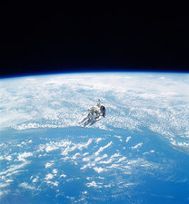 Manned maneuvering unit space walk, 1984