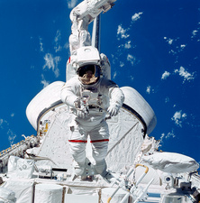 Astronaut during spacewalk