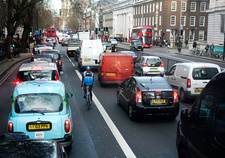 Traffic in London, UK