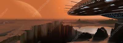 Alien civilisation, illustration