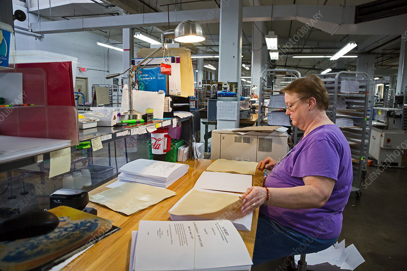 Braille book production