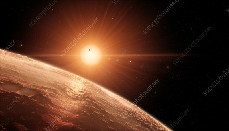 Planets in TRAPPIST-1 system, illustration