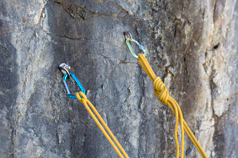Bolted belay for rock climbing