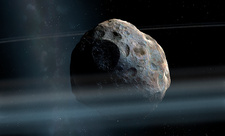 Artwork of Asteroid Chariklo