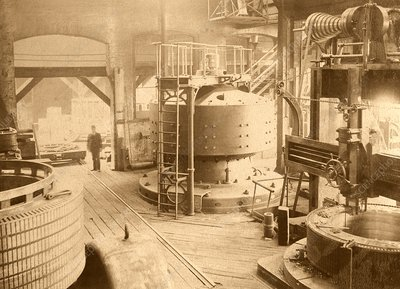 Niagara Falls power station, historical image
