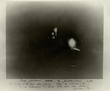 Phosphorescent light photograph of Tesla