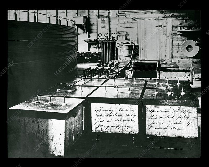 Tesla's Colorado Springs laboratory equipment