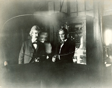 Twain and Jefferson in Tesla's laboratory, 1894