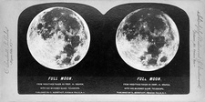 Full Moon in 1870s, stereoscopic card