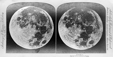 Full Moon circa 1899, stereoscopic card