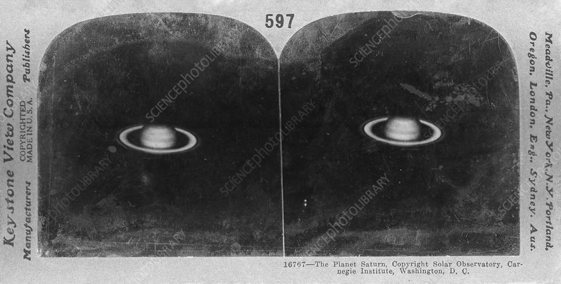 Saturn in 1911, stereoscopic card