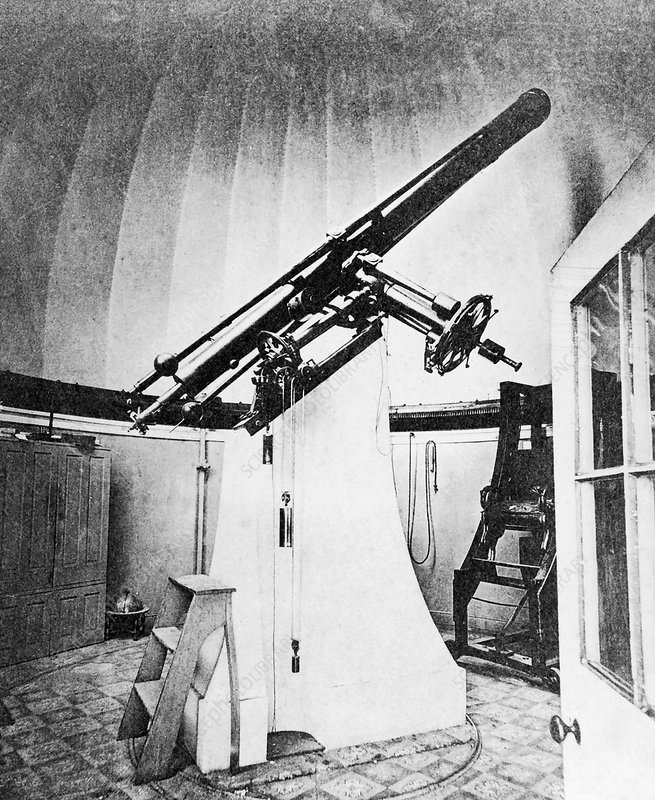 US Naval Observatory refractor telescope, 19th century