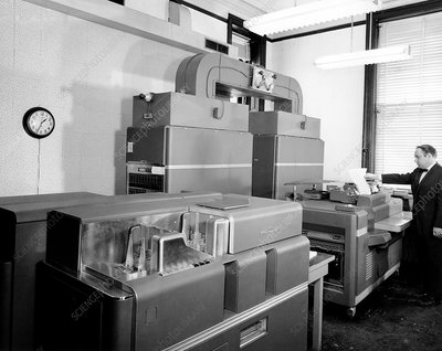 IBM 650 computer at US Naval Observatory, 1961