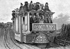 19th Century 3-wheeled vehicle, illustration
